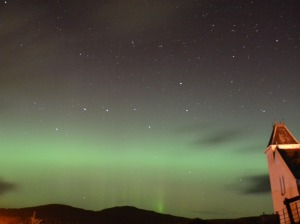 Northern Lights - view from Uig Hotel